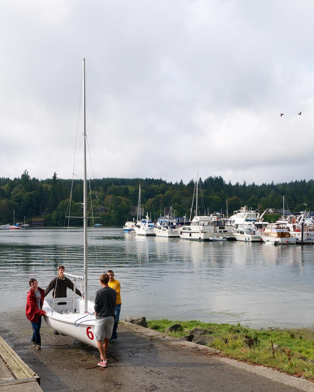 Bringing the boat ashore