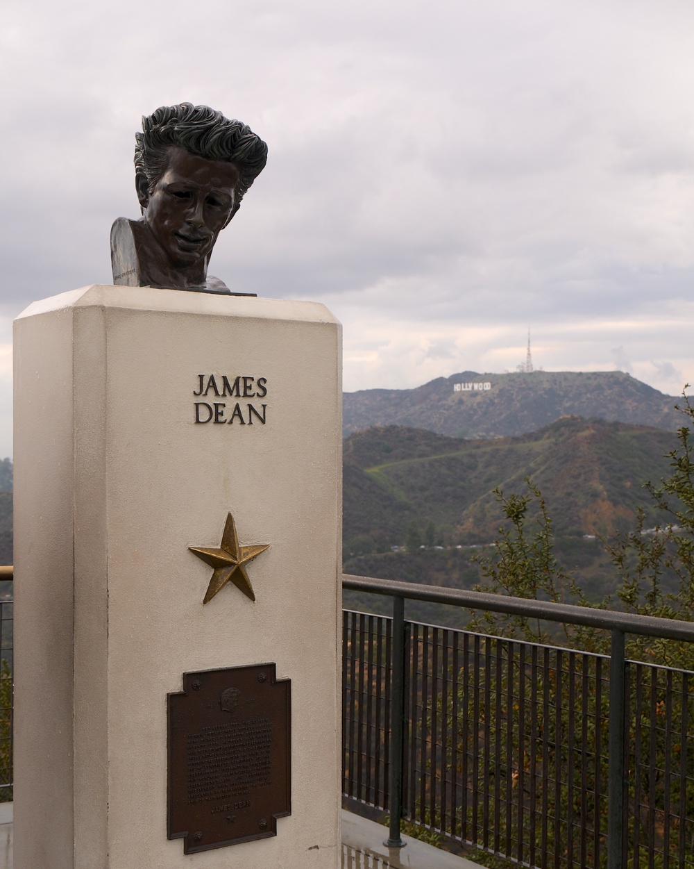 This tribute to James Dean is on the observatory grounds to commemorate  Rebel Without a Cause