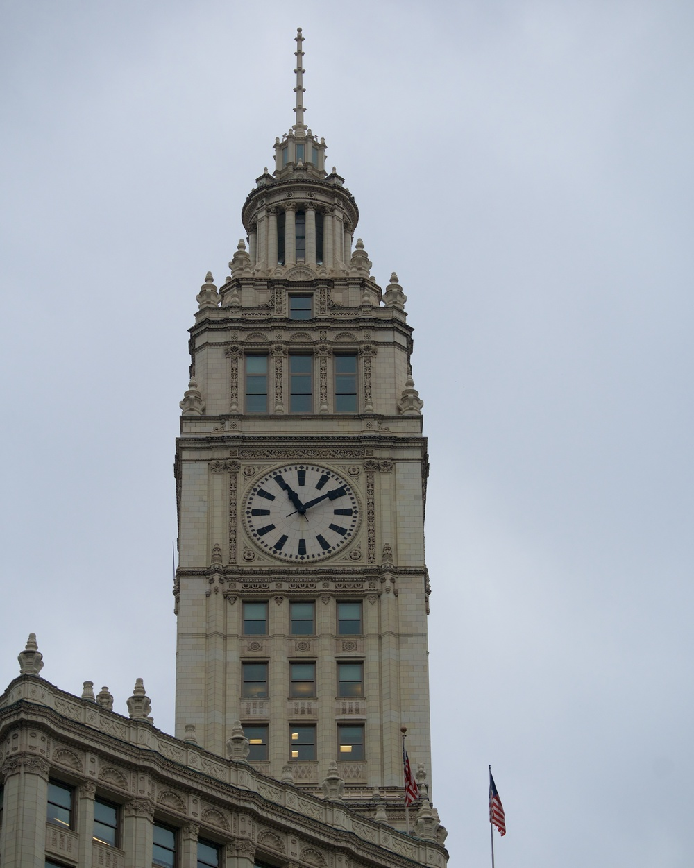 Clock Tower on the Wrigley building