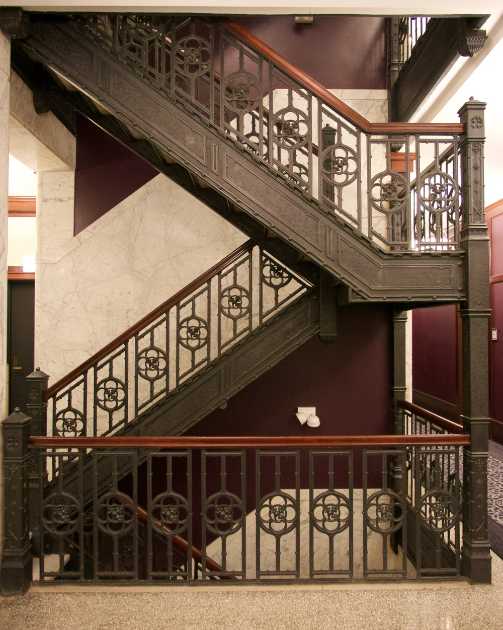 Stairs in the Reliance building