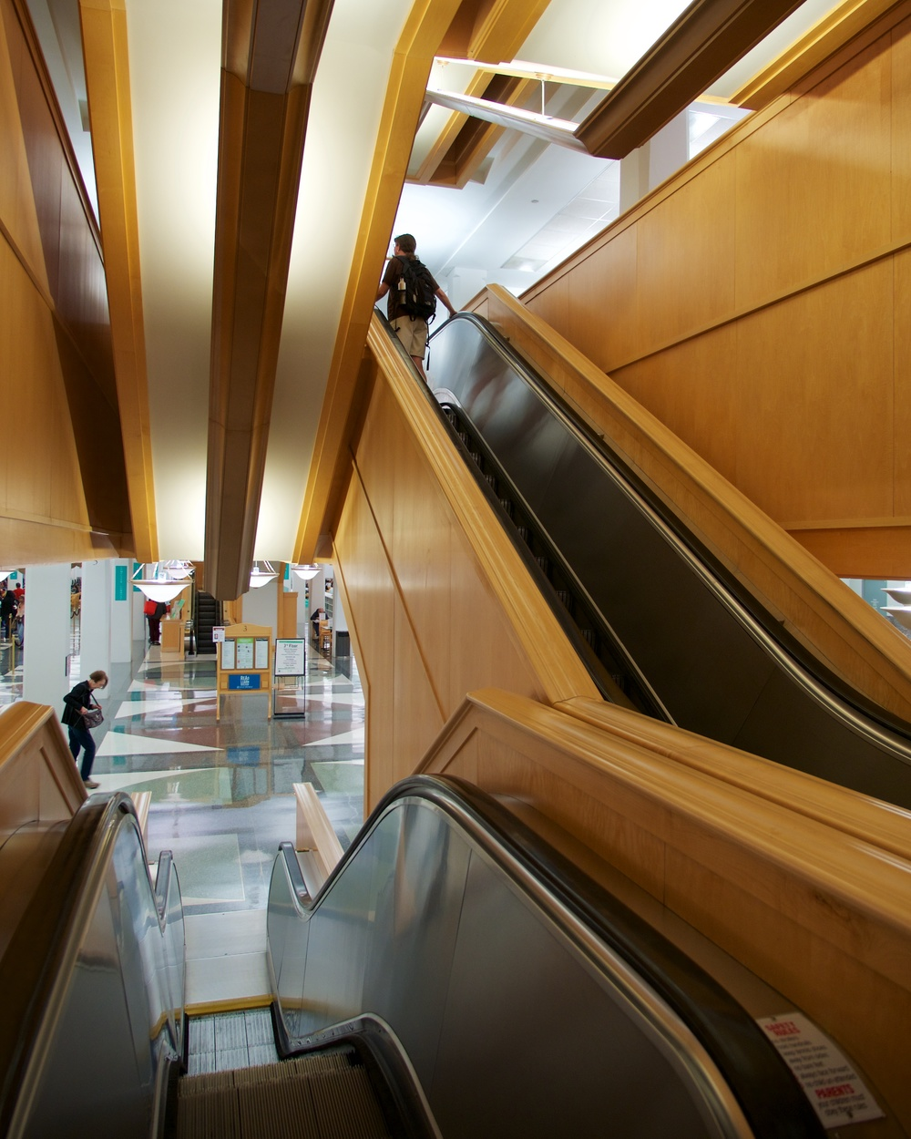 Escalators at the Harold Washington Library
