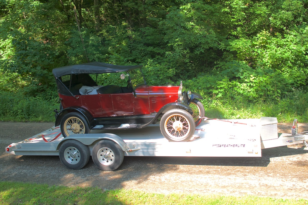 Model T on the trailer