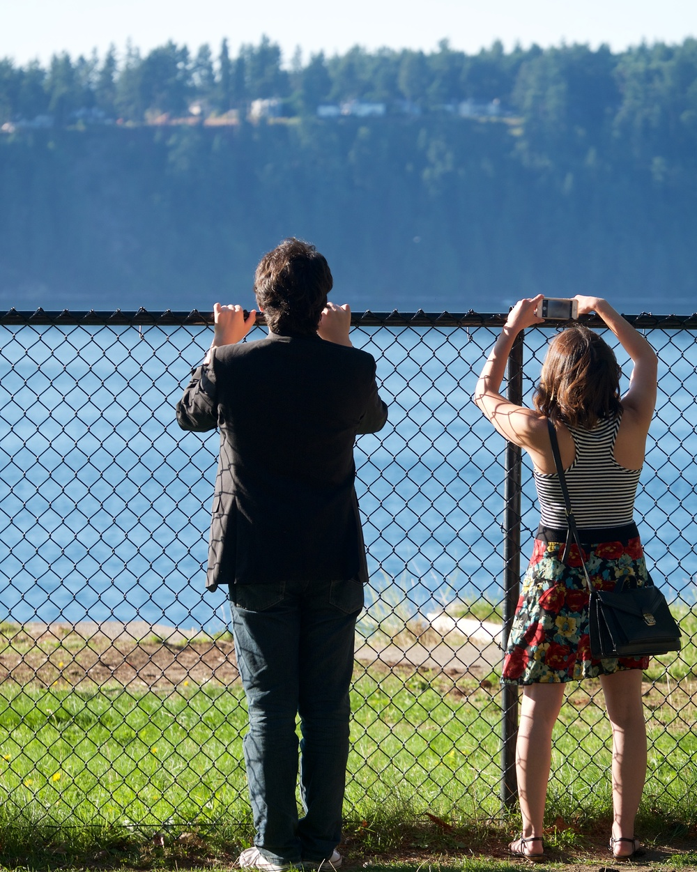 Tynor and Lindsay checking out the view