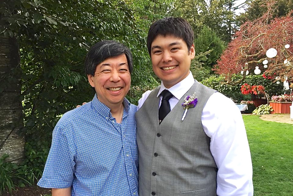 Father and groom (photo by Kathy Tashima)
