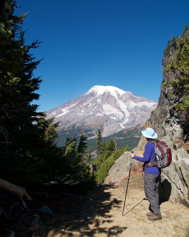 Mt. Rainier as seen through Pinnacle Saddle