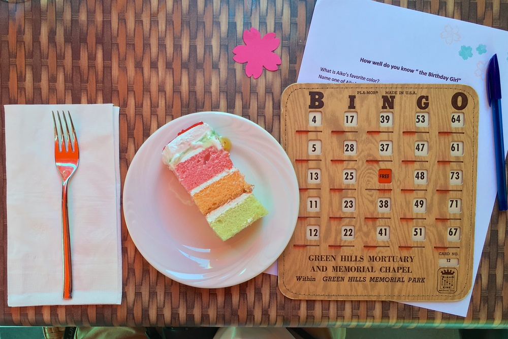 """Birthday cake, bingo, """"How well do you know the Birthday Girl?"""" trivia quiz"""