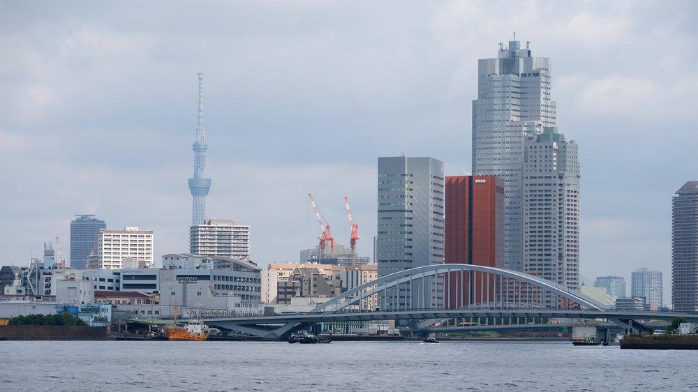 Tokyo Skytree and Tsukiji-ohashi Bridge