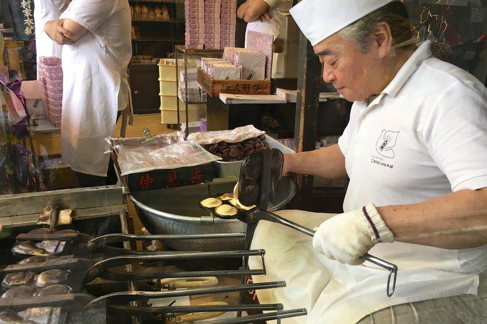 Making taiyaki