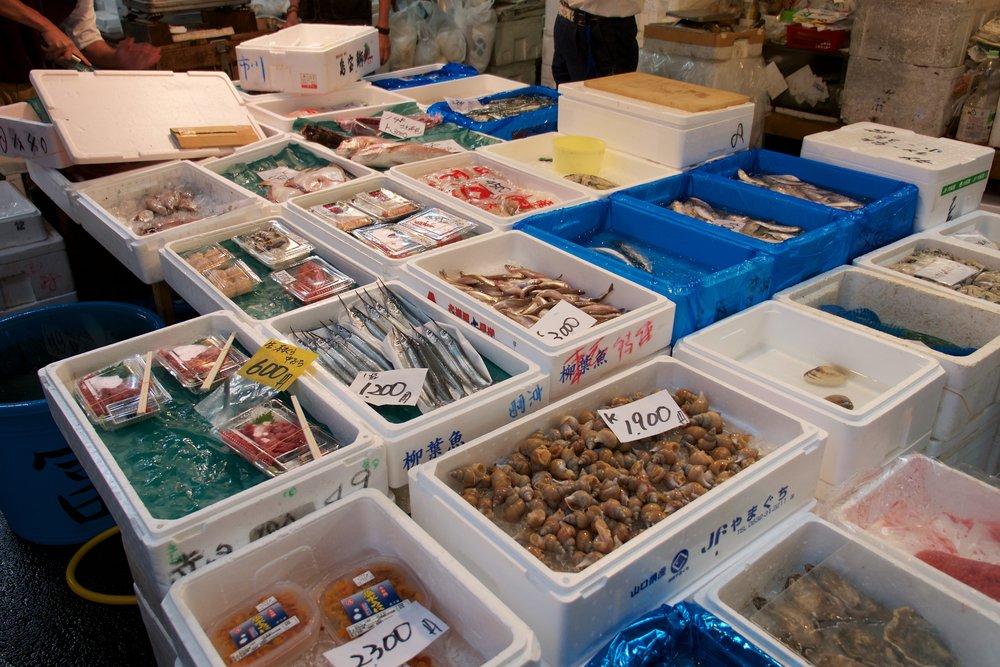 Various seafood