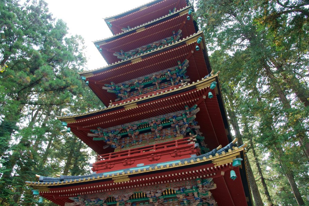 Five-storied pagoda at Toshogu Shrine