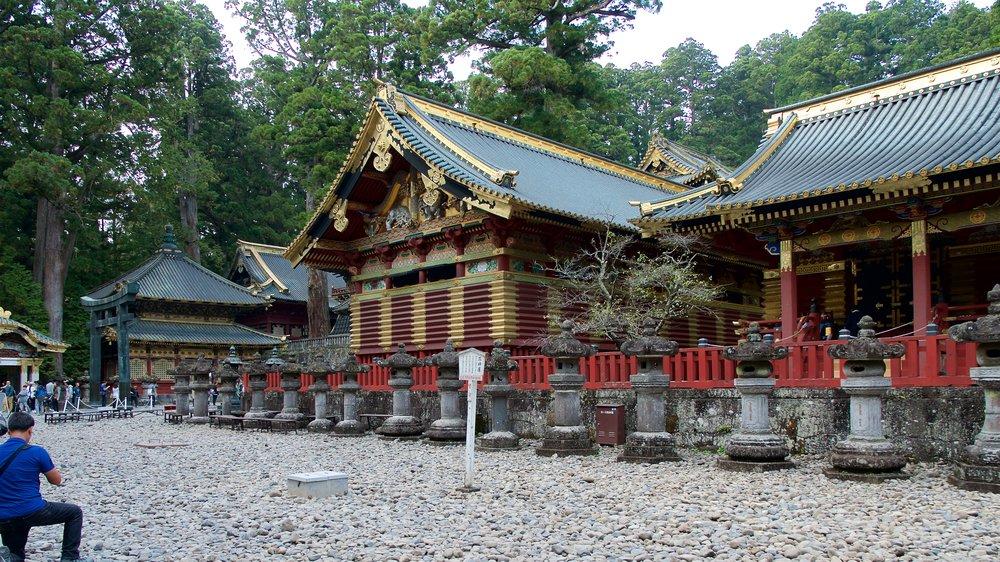 Two of the three sacred warehouses, Toshogu Shrine