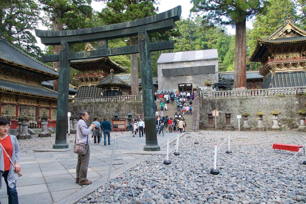 Yomeimon Gate under renovations
