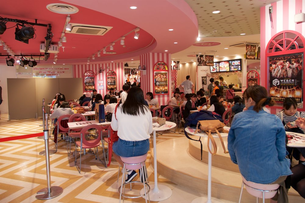 Food court at Takeshita Dori