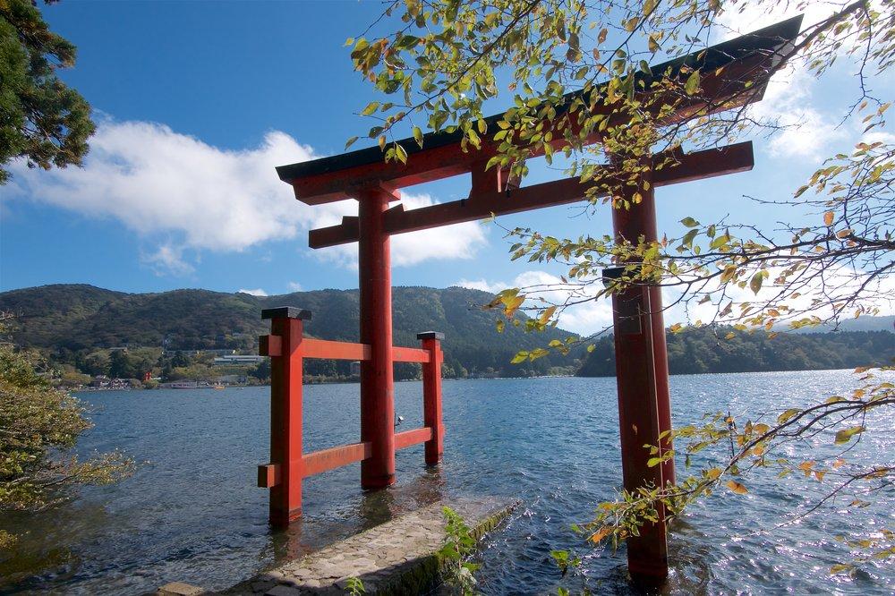 Torii in Lake Ashi