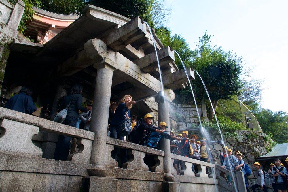 Otowa Falls at Kiyomizu Temple