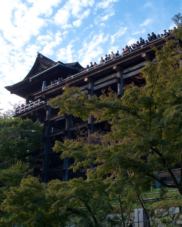Pillars holding up Kiyomizu Temple