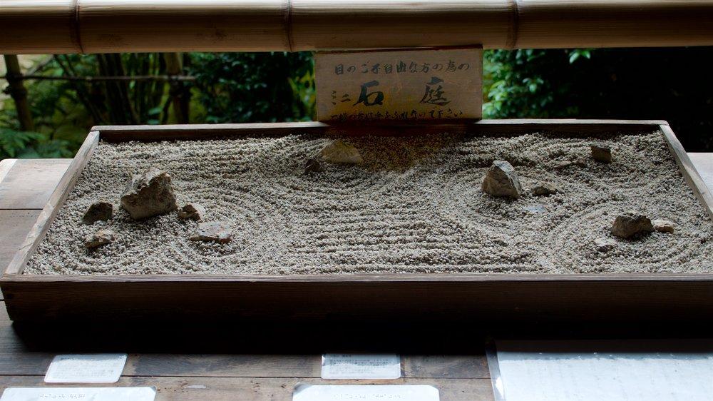 Model of the Ryoanji stone garden