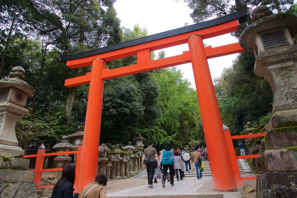 Entrance torii to Kasuga-taisha