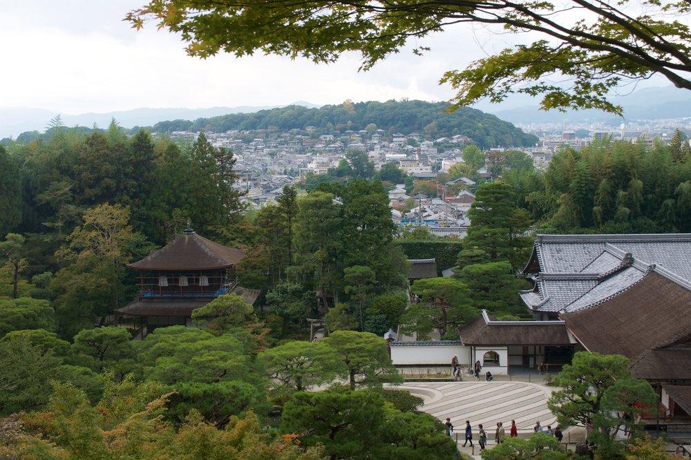 View of Ginkakuji and Kyoto