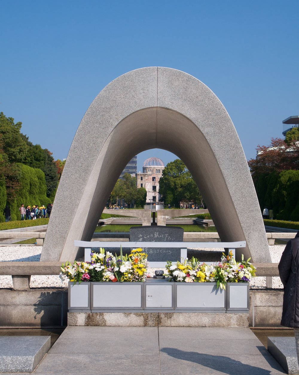 Cenotaph, flame, Atomic Bomb Dome