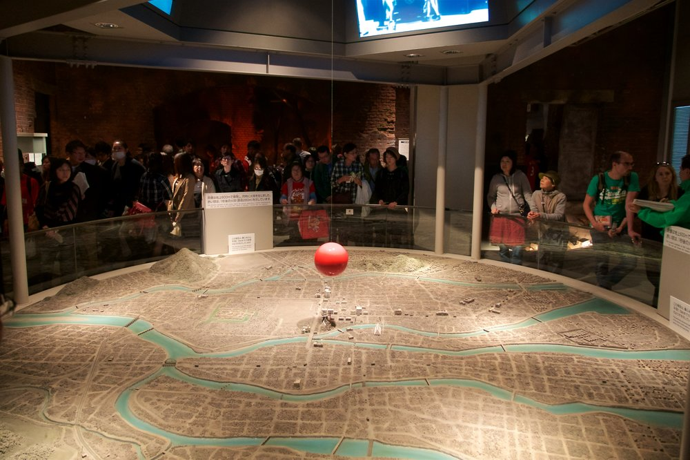 Map of Hiroshima at the time of the bombing