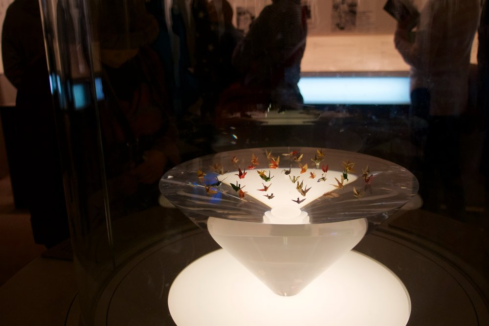 Cranes in the Sadako exhibit