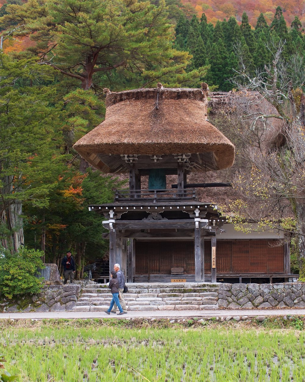 Miyozenji Temple and its gate with a thatched roof