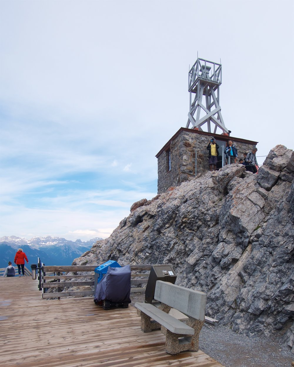 Former weather station at the summit