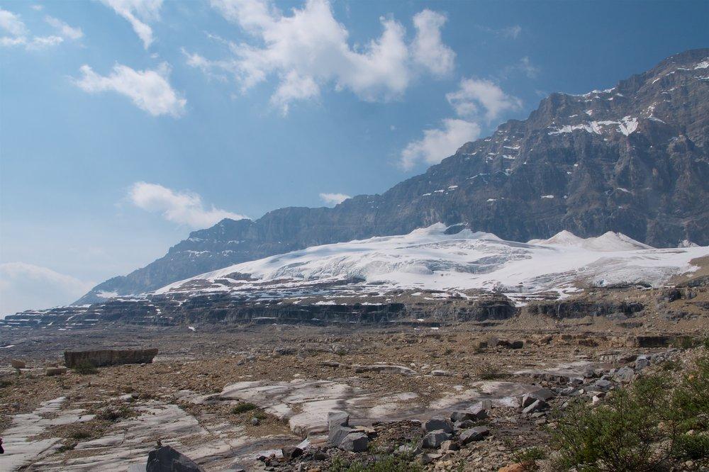 Glaciers near the summit