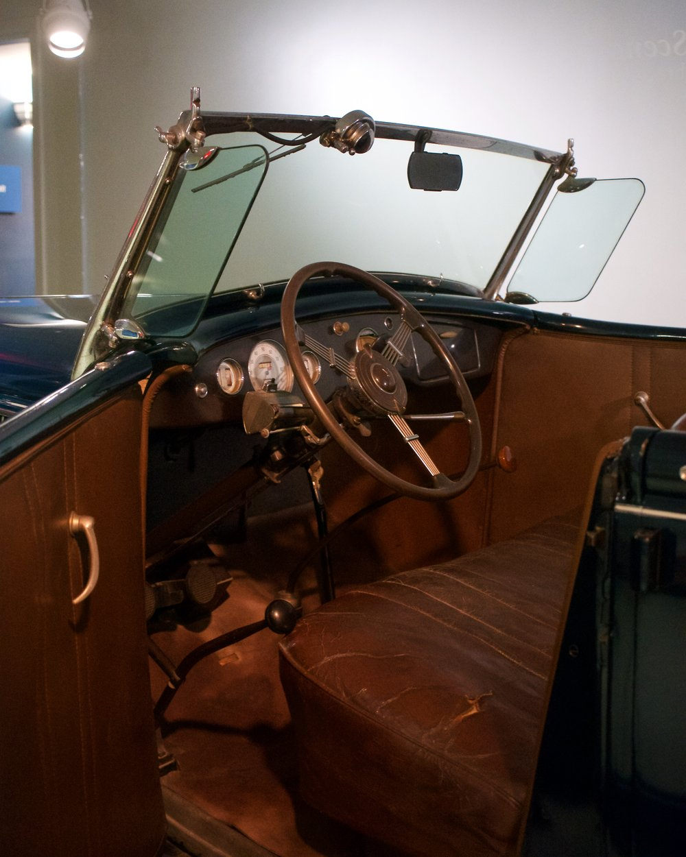 Interior of FDR's 1936 Ford Phaeton