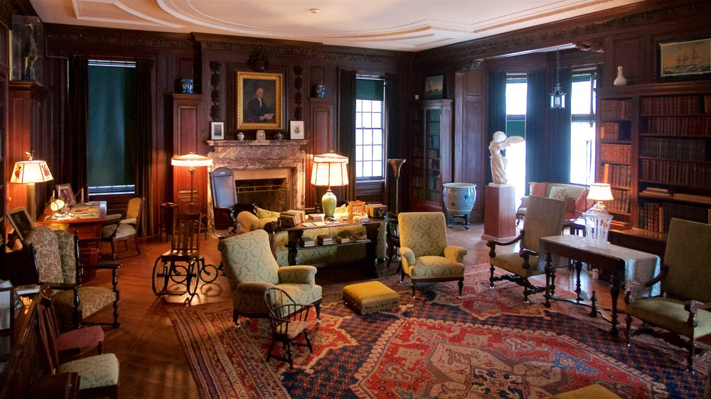 Library in FDR's home