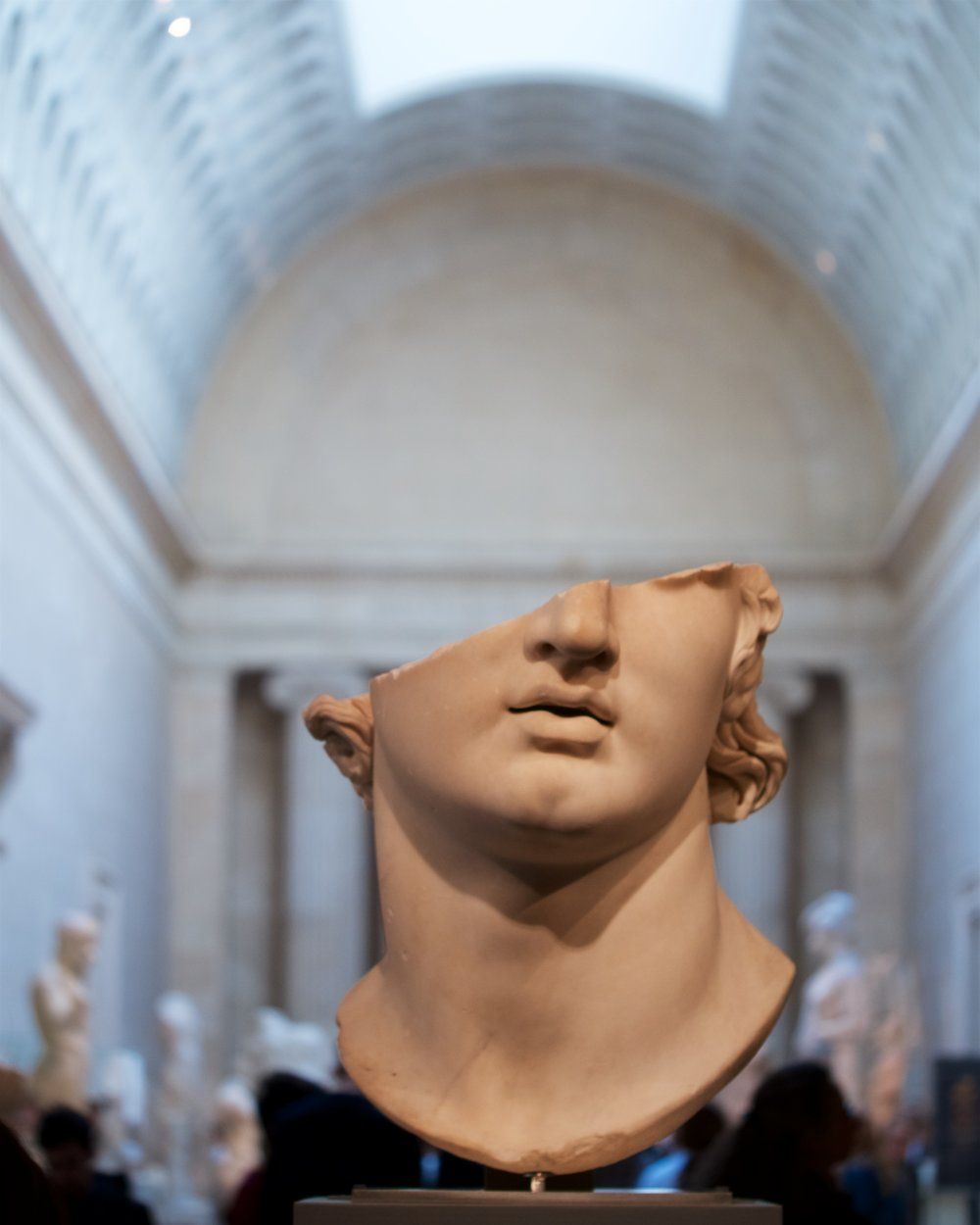 Fragmentary colossal marble head of a youth