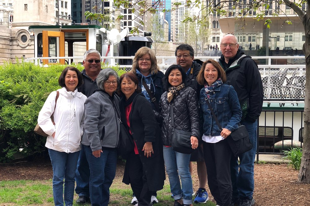 Group at the architecture boat tour (photo via Janice Hanada)