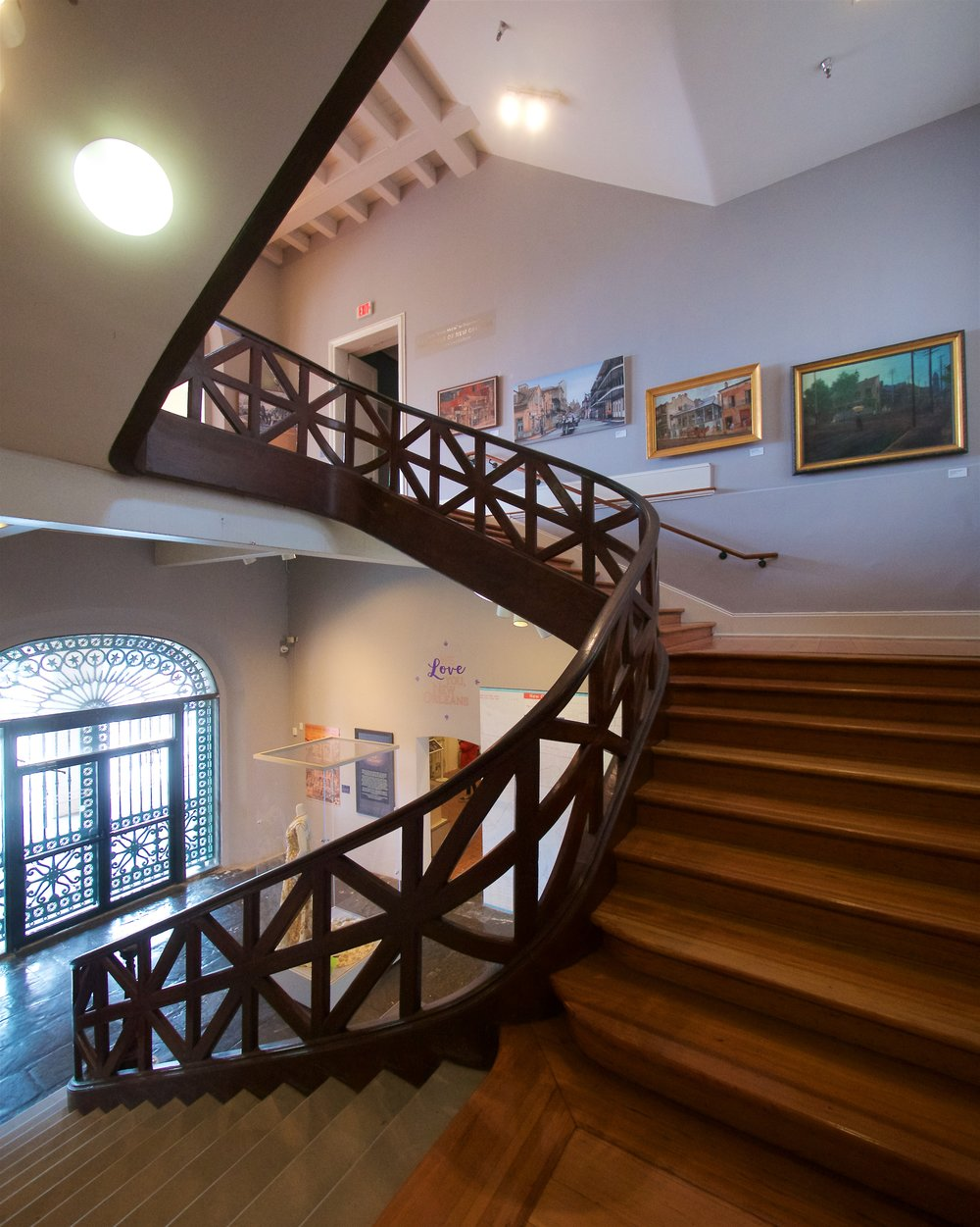 Central staircase