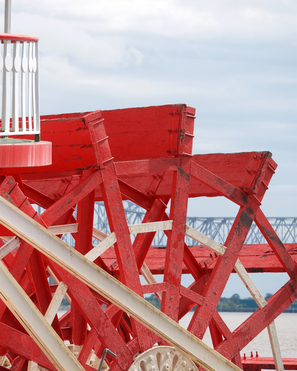 Paddlewheel of the Steamboat Natchez