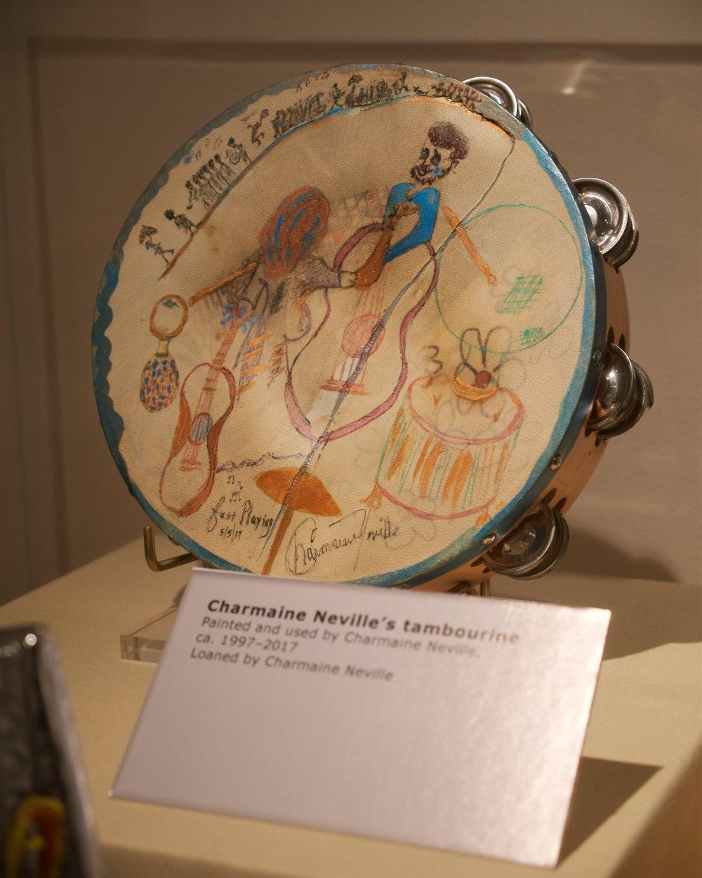 Charmaine Neville's tambourine