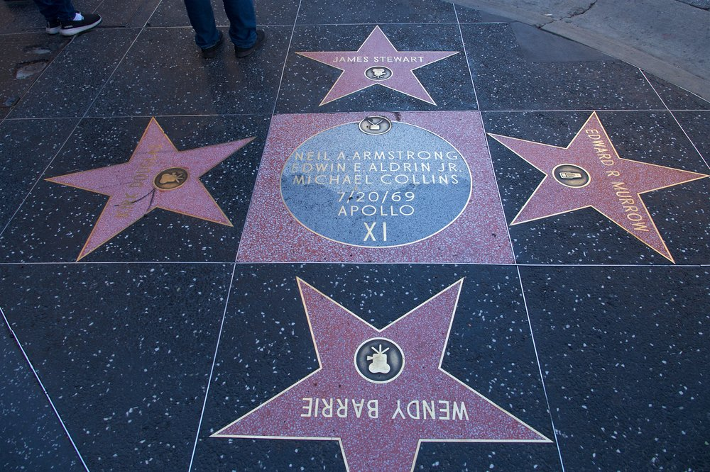 Apollo 11 plaque on the Hollywood Walk of Fame