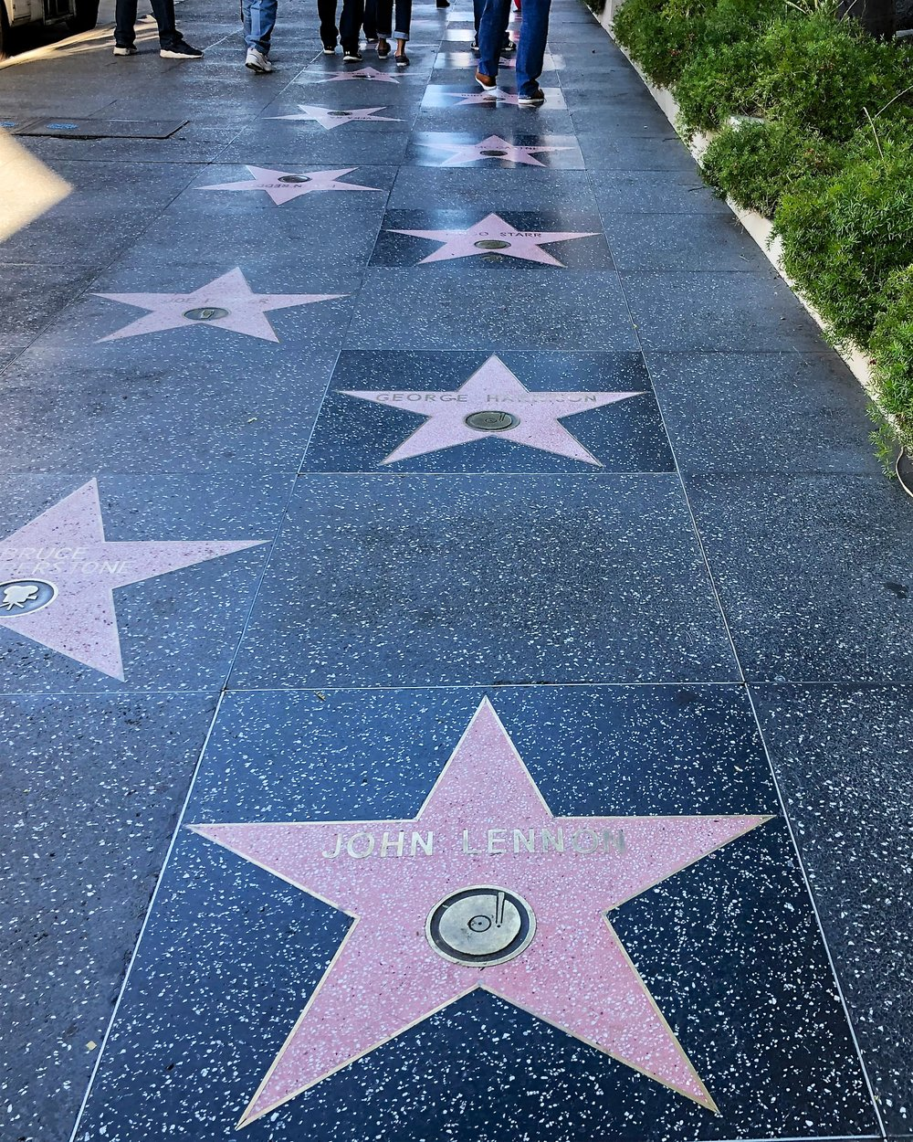 Stars for John Lennon, George Harrison, Ringo Starr, Paul McCartney