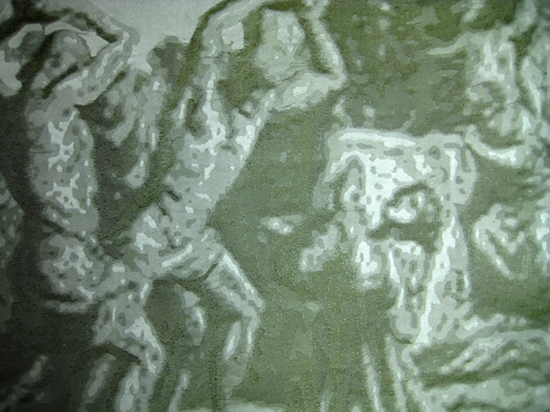 Silk Jacquard Sample - Stoning of St.Stephen.jpg
