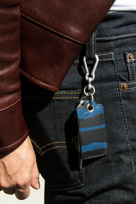Leather Roadster Jacket  |  Bottle Opener Bag Charm