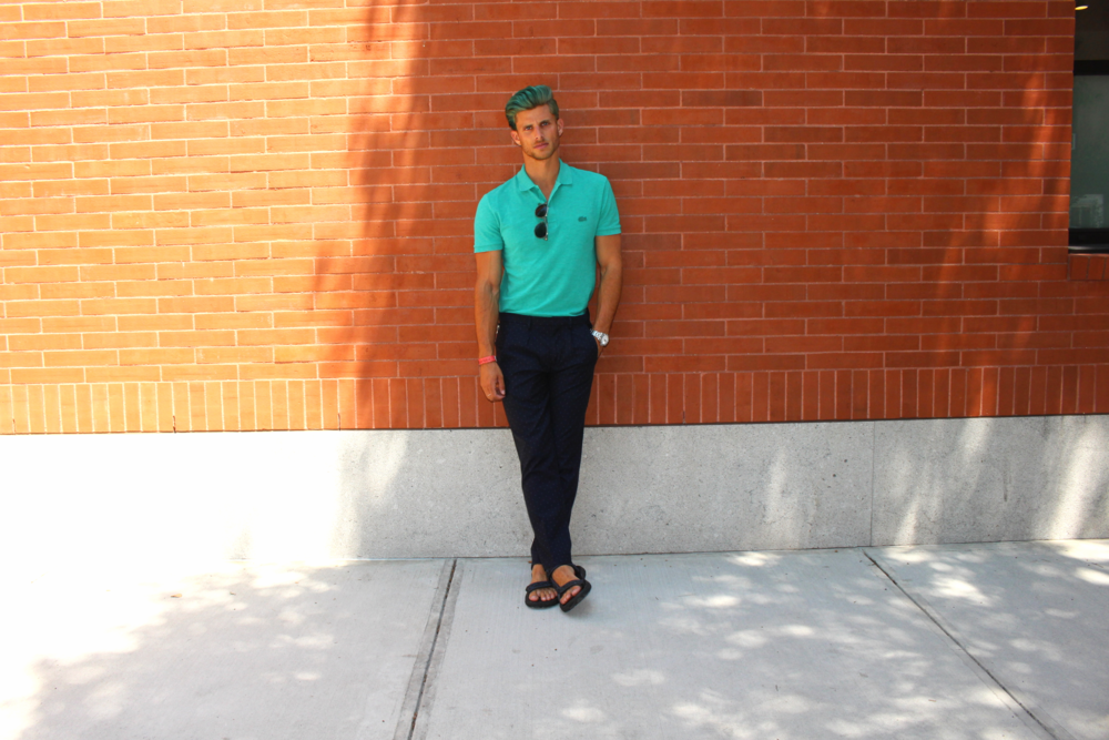 50 Shades of Blue: Lacoste, Zara Men, Teva