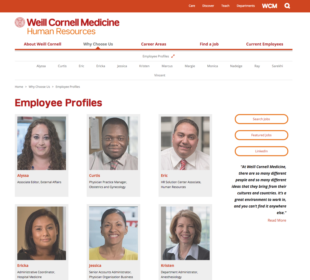 Careers at Weill Cornell Medicine — Gabrielle Burger