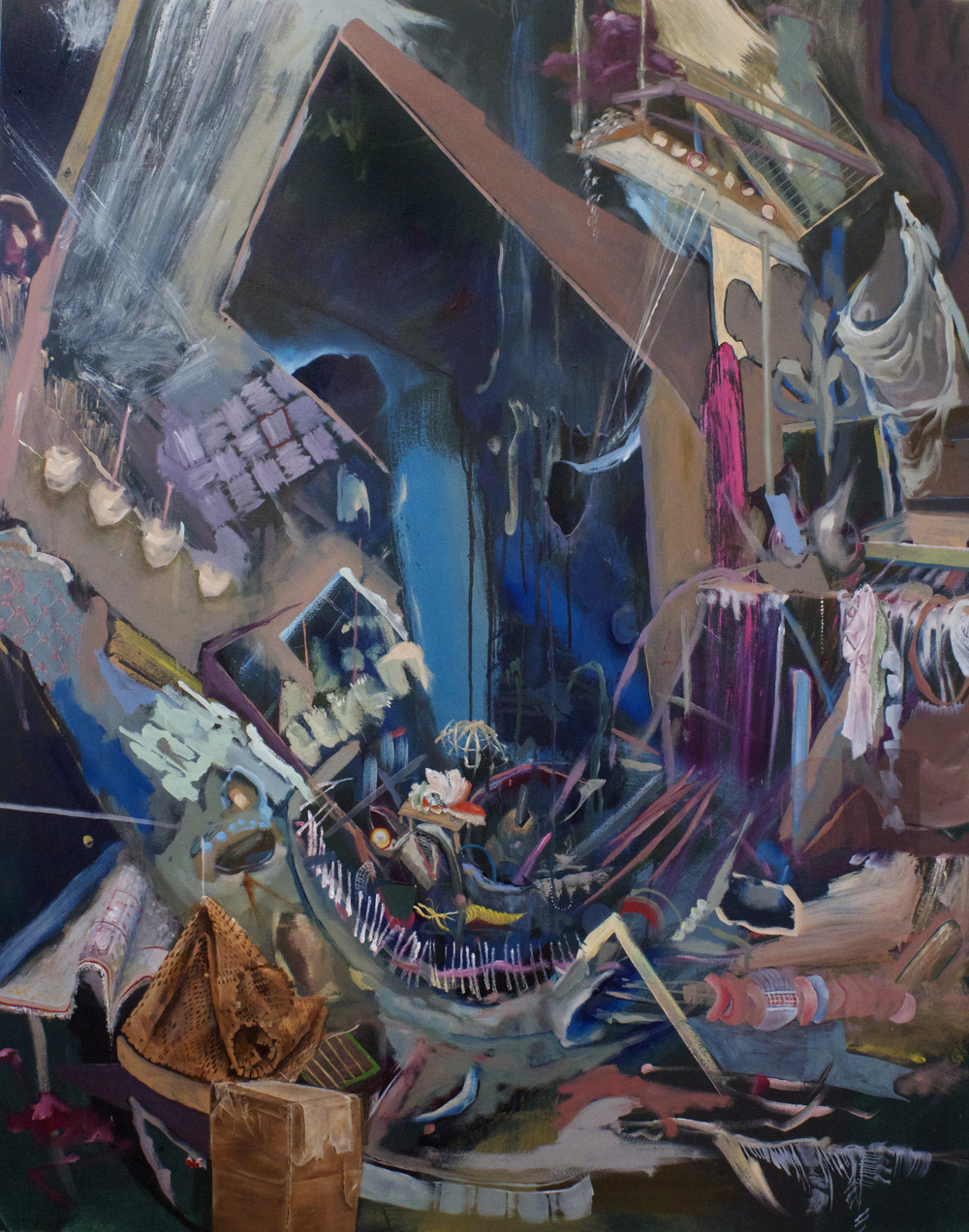 "Watered Down, 48"" x 60"", Oil on canvas, 2013"