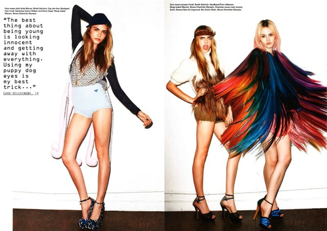 i-D  (Pre-Fall 2012 : Issue 320)    call your friends dye your hair hit the clubs , photography by Terry Richardson