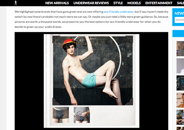 The Underwear Expert (March 2012, Eco-Friendly Underwear Picks)