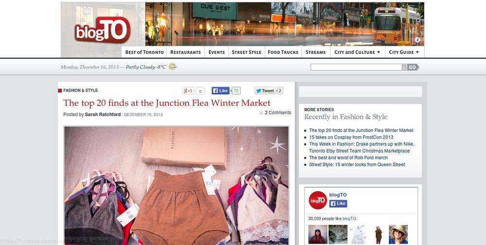 BlogTO  (December 16, 2013)