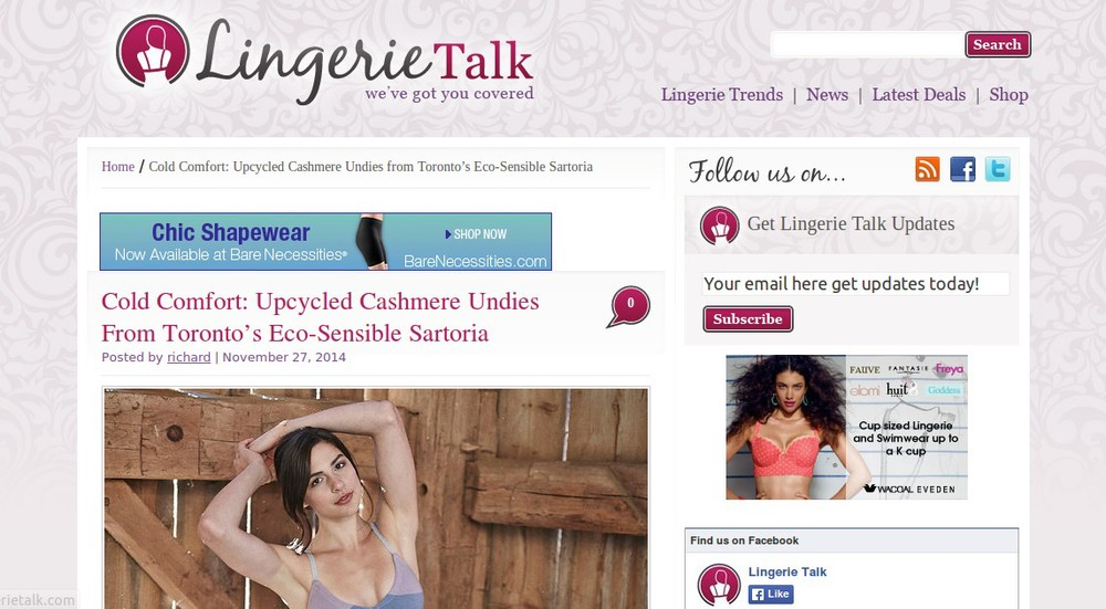 Lingerie Talk  (November 27, 2014)