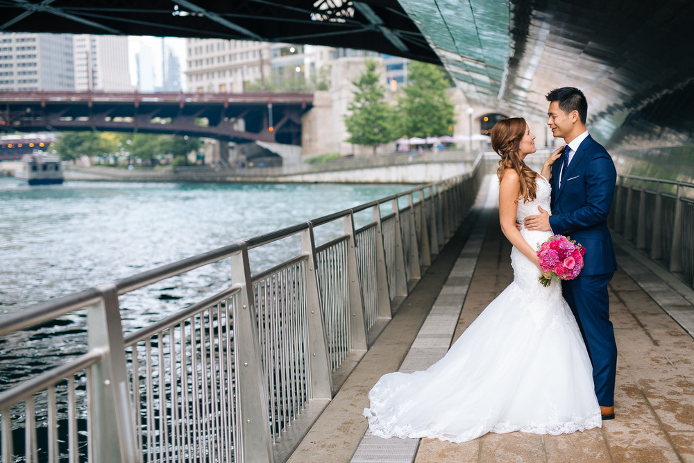 Caitlin + Phong Chicago Riverwalk Chicago Wedding Photographer Chicago Wedding Photography (1 of 1).jpg