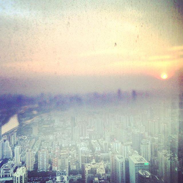 GZ through the haze.  #canton #guangzhou #IFC #latergram #wandermore #justgo #learningtoletgo #lifelessons  #artofvisuals #aov #guanhzhoucity #GZ #agameoftones #viewfrom99 #viewfromthetop #sunsets_oftheworld