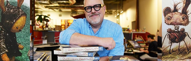 William Joyce will be Signing books this night, and books will be for sale at artspace.